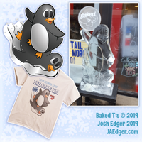 Josh_Edger jaedger vector illustrator Baked Ts ice carnival penguin shirt ice sculpture illustration 2019
