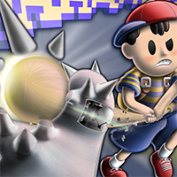 jaedger Earthbound Ness Starman Smaaaash illustration vector realistic shading copyright 2018 josh edger