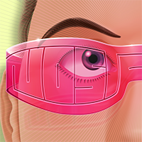 Josh_Edger jaedger vector illustrator nostalgia glasses rose tinted typography logo 2019