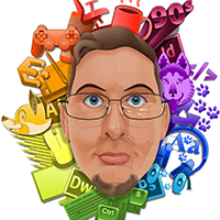 jaedger illustration illustrator vector self-portrait gradient-mesh copyright 2018 josh edger